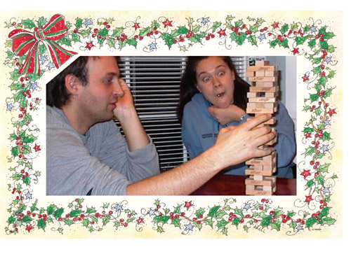 Kate and Eric playing janga